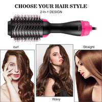 Hair Style Volumizer Rotating Hair Straightener 3 in 1 Multifunctional Roller Rotate Styler Comb Hot Air Styling Brush Hair Dry - KB ALL ABOUT SERVICEZ