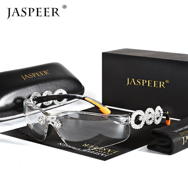 JASPEER Men Diamond Sunglasses Outdoor Sports Sandproof UV Protection Sun Glasses Women Travel PC Frame UV400 Eyeglasses - KB ALL ABOUT SERVICEZ
