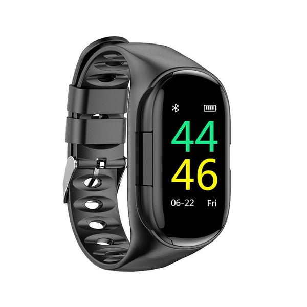 LEMFO M1 Newest AI Smart Watch With Bluetooth Earphone Heart Rate Monitor Smart Wristband Long Time Standby Sport Watch Men - KB ALL ABOUT SERVICEZ