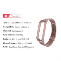 Mi Band 3 Wrist Strap Metal Screwless Stainless Steel For Xiaomi Mi Band 3 Strap Bracelet Miband 3 Wristbands Pulseira Miband3 - KB ALL ABOUT SERVICEZ