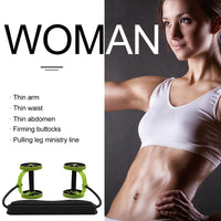 Full Body Workout Double Wheel Arm Waist Trainer Home Gym Fitness - KB ALL ABOUT SERVICEZ