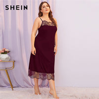 Contrast Lace Spaghetti Strap Night Dresses Women - KB ALL ABOUT SERVICEZ