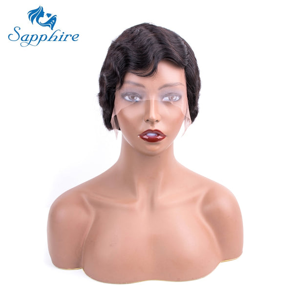 Bob Lace Wig Short Ocean Wave Human Hair - KB ALL ABOUT SERVICEZ