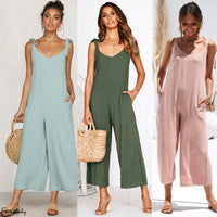 Summer Casual Women Lady Sleeveless Jumpsuit Romper Soild Loose - KB ALL ABOUT SERVICEZ