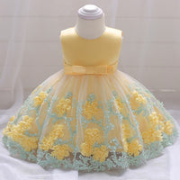 Girls Dresses baby flower lace dress female baby hundred days wedding princess dress Lining cotton baby girl clothes - KB ALL ABOUT SERVICEZ
