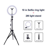 Selfie Ring Light USB ring lamp Photography Light with Phone Holder 2M tripod stand - KB ALL ABOUT SERVICEZ