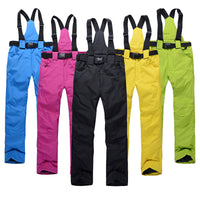 Women Men Ski Pants Brands Outdoor Sports Suspenders Windproof Waterproof Trousers - KB ALL ABOUT SERVICEZ