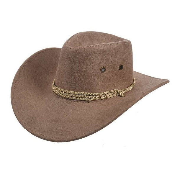 Cowboy Cap Suede Look Wild West Fancy Cowgirl Unisex Hat - KB ALL ABOUT SERVICEZ