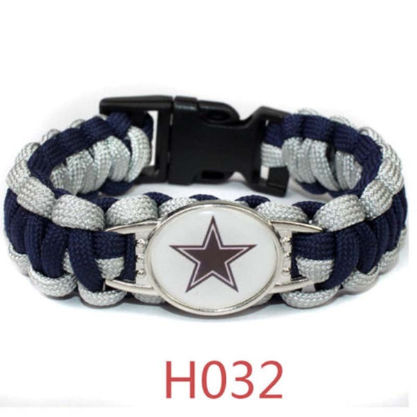 Football NFL US Team Umbrella Rope Wristband Bracelets Bracelet-Pick Team Gift - KB ALL ABOUT SERVICEZ