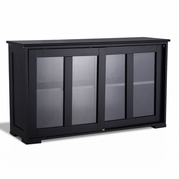 Kitchen Storage Cabinet with Glass Sliding Door - KB ALL ABOUT SERVICEZ