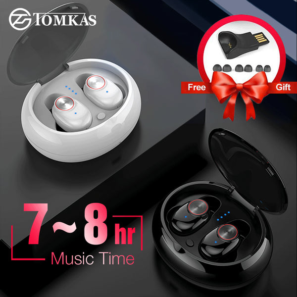 TWS Wireless Headphones Heavy Bass Earbuds Headset Sport Waterproof Noise Cancelling Stereo Bluetooth Earphone with Charging Box - KB ALL ABOUT SERVICEZ