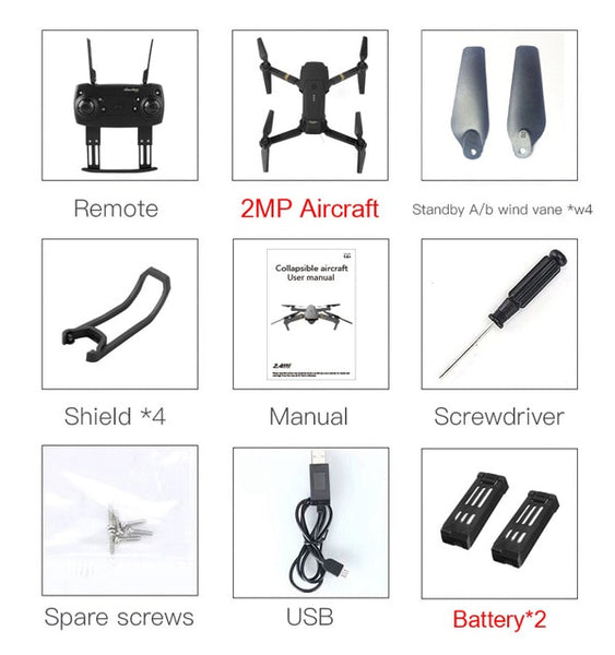 Eachine E58 WIFI FPV With Wide Angle HD Camera High Hold Mode Foldable Arm RC Quadcopter Drone RTF VS VISUO XS809HW JJRC H37 - KB ALL ABOUT SERVICEZ