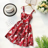 Marwin 2019 New Off shoulder ruffle Dot summer Dress women white strap chiffon beach Boho party sexy dresses vestido furits - KB ALL ABOUT SERVICEZ