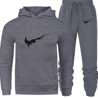New 2018 Brand Tracksuit Men Thermal Men Sportswear Sets Fleece Thick Hoodie+Pants Sporting Suit Casual Sweatshirts Sport Suit - KB ALL ABOUT SERVICEZ