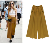 Women's summer dress new 200kg loose-fitting casual pants \ women's wide leg pants   370shi - KB ALL ABOUT SERVICEZ