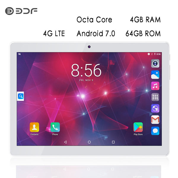 10 inch Original 4G Phone Call Android Tablets Octa Core Android 7.0 CE Certification WiFi Bluetooth 4G+64G Tablet Pc - KB ALL ABOUT SERVICEZ
