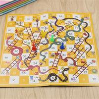 Snake Ladder Flying Chess Board Game Set Brain Teaser Puzzel Toys Family party Game Gift for Kid Early Education Chess Toys - KB ALL ABOUT SERVICEZ