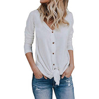 women's waffle knit tunic blouse shirt - KB ALL ABOUT SERVICEZ