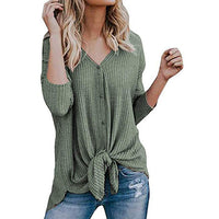 Copy of women's waffle knit tunic blouse shirt - KB ALL ABOUT SERVICEZ