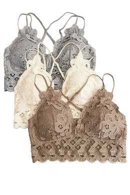 LACE BRALETTES - Breazy's Boutique