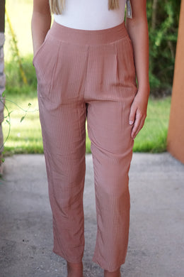 SATIN STRIPE PANTS - Breazy's Boutique