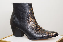 Load image into Gallery viewer, DEVON SNAKESKIN BOOTIES - Breazy's Boutique