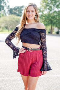 CRISS CROSS LACE TOP - Breazy's Boutique