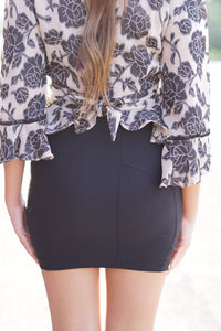 MID THIGH MINI SKIRT - Breazy's Boutique