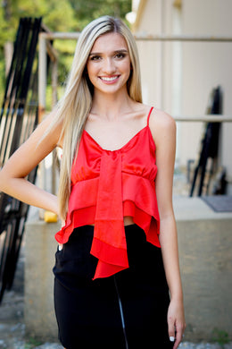 SWEETHEART RUFFLE TOP - Breazy's Boutique