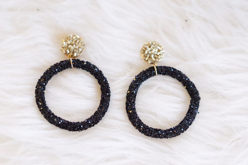 Glitter Hoops - Breazy's Boutique