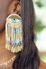 Load image into Gallery viewer, EVIL EYE BEADED EARRINGS - Breazy's Boutique