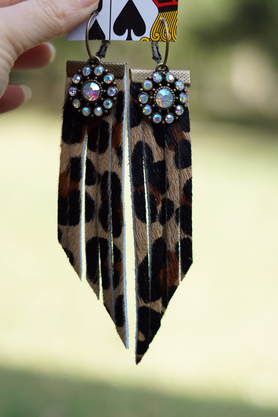 Leopard Fringe Earrings - Breazy's Boutique