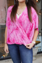 Load image into Gallery viewer, Crossover Tie Dye Blouse