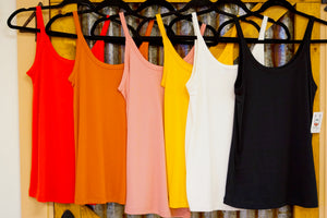 Scoop Neck Rib Tank Top