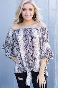Off Shoulder Snake Top