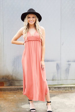Smocked Waist Cami Midi Dress