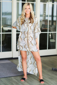 HIGH LOW SNAKE DRESS