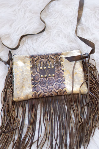 COWHIDE/LEATHER SNAKE MAXINE