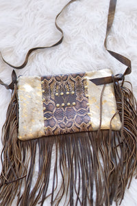 COWHIDE/LEATHER SNAKE MAXINE - Breazy's Boutique