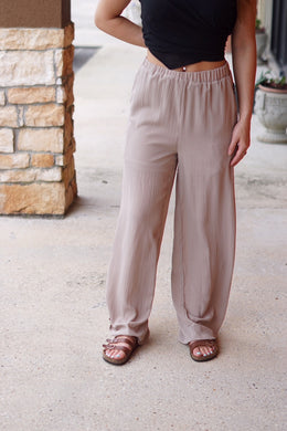 SIDE TIE PANTS - Breazy's Boutique