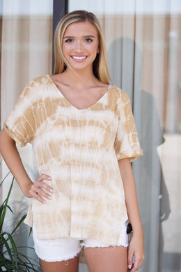 BOXY TIE DYE THERMAL - Breazy's Boutique