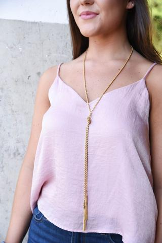 ROPE CHAIN NECKLACE WITH TASSEL - Breazy's Boutique