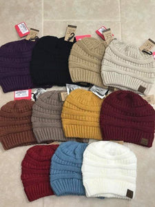 Cc Beanie Messy Bun Beanie Tail - Breazy's Boutique