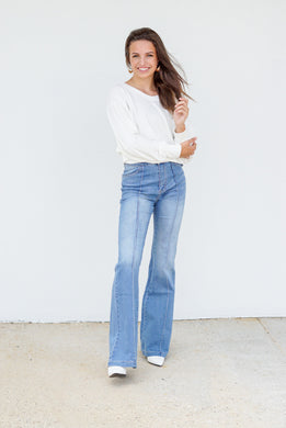Flare Bootcut Denim Pants