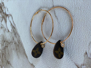 LV Gold Hoops