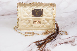 Girly Girl Gold Repurposed LV Purse