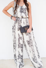 Load image into Gallery viewer, SLEEVELESS SNAKE PRINT JUMPSUIT