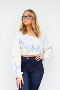 Long Day Tie Dye Cropped Sweatshirt
