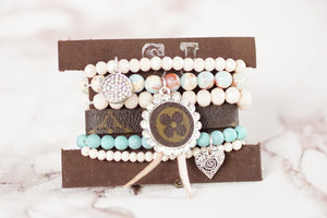 Pink And Blue Baby Repurposed LV Bracelets
