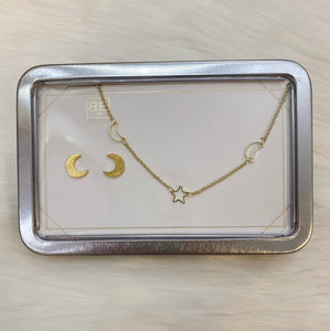 STAR AND MOON JEWELRY SET
